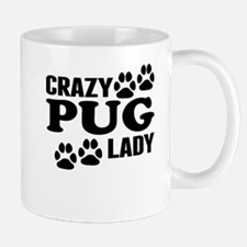 Crazy Pug Lady Mugs