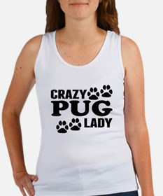 Crazy Pug Lady Tank Top
