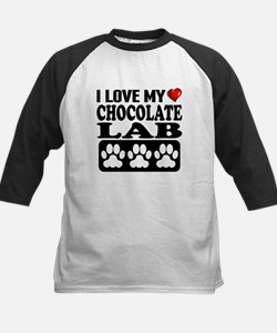 I Love My Chocolate Lab Baseball Jersey