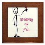 Drinking of You Framed Tile