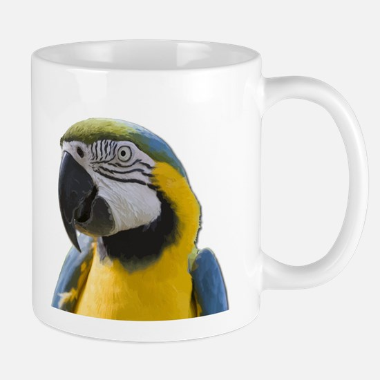 Blue and Yellow Macaw Thinking Mugs