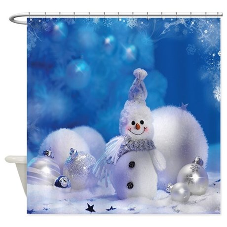 Snowman Shower Curtain By SmileToday
