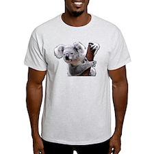 Koala Bear holding onto a tree T-Shirt