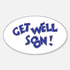 Get Well Soon! Oval Decal