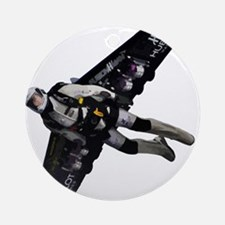 Jetpack Hoverboard Wing Man Flying Round Ornament