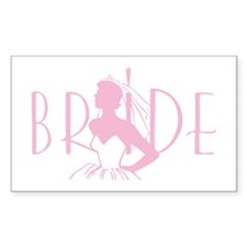 Strapless Bride Rectangle Decal