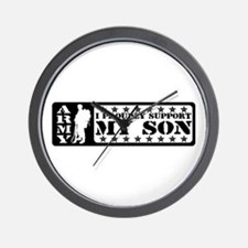 Proudly Support Son - ARMY Wall Clock