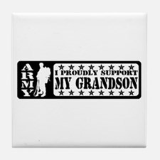 Proudly Support Grndsn - ARMY Tile Coaster