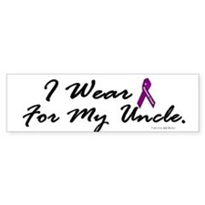 I Wear Purple 1 (Uncle PC) Bumper Bumper Sticker