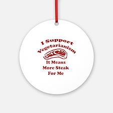 More Steak For Me Ornament (Round)