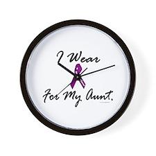 I Wear Purple 1 (Aunt PC) Wall Clock