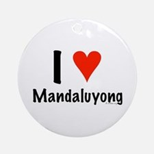 I love Mandaluyong Ornament (Round)