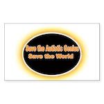 Save the Autistic Genius Rectangle Sticker