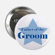Father of the Groom Blue Star Button
