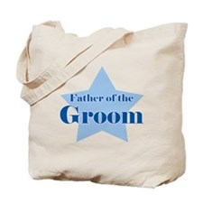 Father of the Groom Blue Star Tote Bag