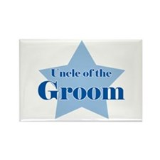 Uncle of the Groom Blue Star Rectangle Magnet