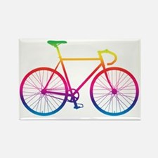 Cute Cyclist Rectangle Magnet