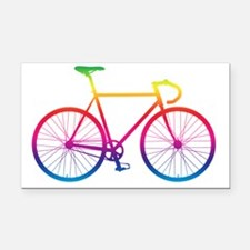 Cool Cycling Rectangle Car Magnet