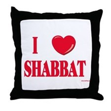 I Love Shabbat Throw Pillow