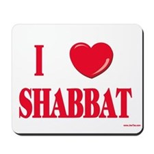 I Love Shabbat Mousepad