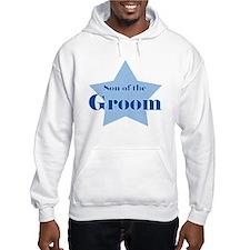 Son of the Groom blue star Hoodie