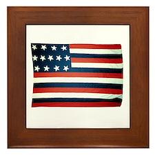 """""""Franklin"""" US flag Framed Tile"""