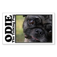 Odie Rectangle Decal