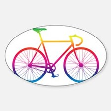 Road Bike - Rainbow Bumper Stickers