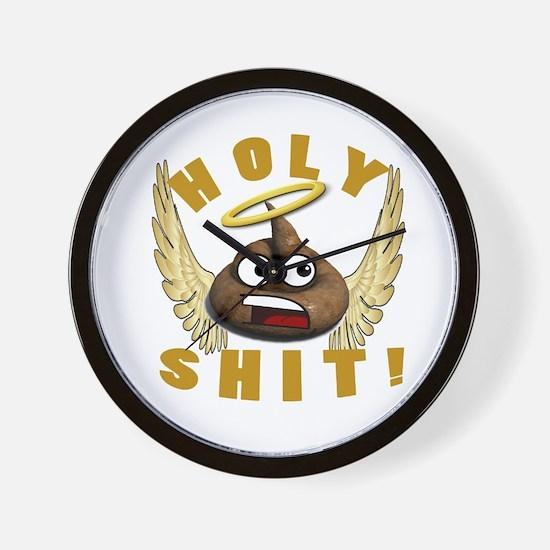 HOLY SHIT Wall Clock