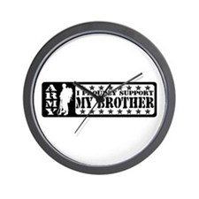 Proudly Support Bro - ARMY Wall Clock