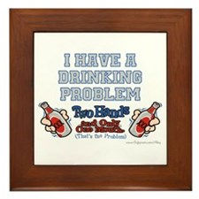 Drinking Problem Framed Tile