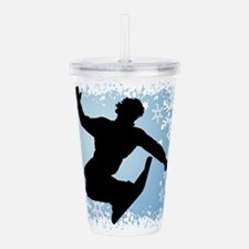 SNOWBOARDING (Blue) Acrylic Double-wall Tumbler