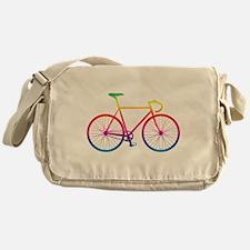 Road Bike - Rainbow Messenger Bag