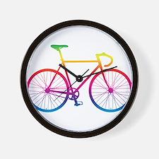 Road Bike - Rainbow Wall Clock