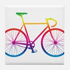 Road Bike - Rainbow Tile Coaster