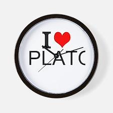 I Love Plato Wall Clock