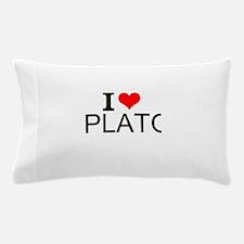 I Love Plato Pillow Case