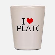 I Love Plato Shot Glass
