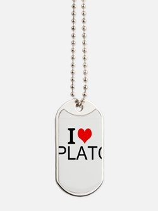 I Love Plato Dog Tags