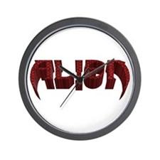 """""""Alien"""" Red Scales Wall Clock"""