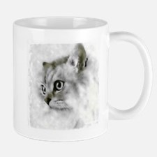 BW Persian Cat Portrait Mugs