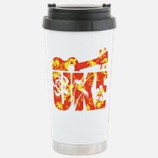 Uke Hawaii Pattern Travel Mug