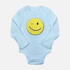 Winking Smiley Face Body Suit