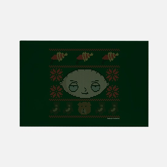 family guy stewie ugly christmas Rectangle Magnet