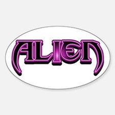 """Alien"" Plain Pink Oval Decal"