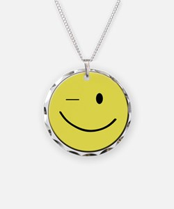 Winking Smiley Face Necklace