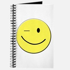Winking Smiley Face Journal