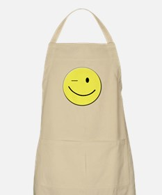 Winking Smiley Face Apron