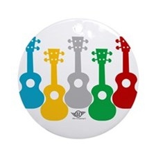 Cute Ukulele Round Ornament