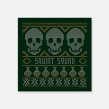"bones ugly christmas Square Sticker 3"" x 3"""